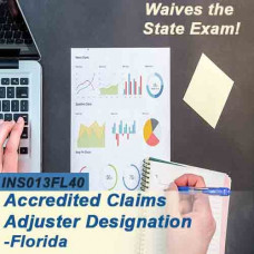 Florida: 40 hr 6-20 -All Lines Accredited Claims Adjuster Designation Online Course