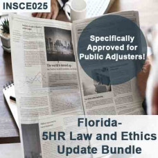 Florida: 12 hr CE Bundle - Includes 5-hour Law and Ethics Update for Public Adjusters (3-20) and 7 hours of General Elective credits